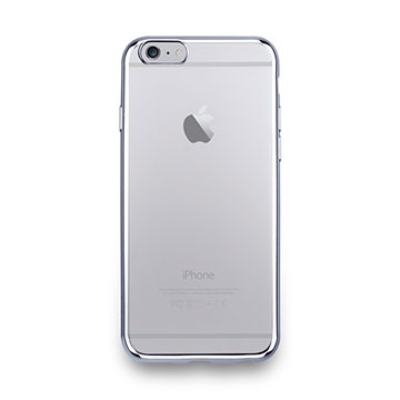 iPhone 6s-金屬光透感保護軟蓋-亮銀色