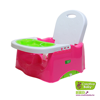 Creative Baby - 攜帶式輔助小餐椅 蜜桃紅(Booster Seat)