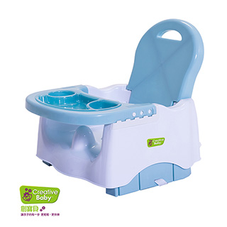 Creative Baby - 攜帶式輔助小餐椅 嬰兒藍(Booster Seat)