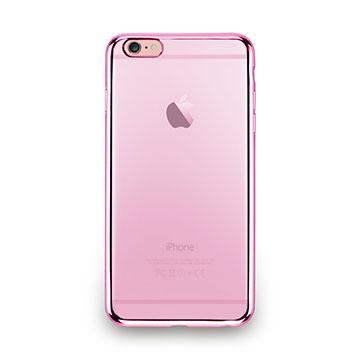 iPhone 6s Plus-金屬光透感保護軟蓋-玫瑰粉