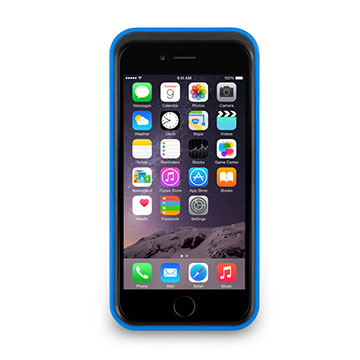 iPhone 6/6s - 撞色可立式保護框(防護升級版) - 靛藍色