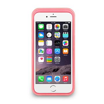 iPhone 6/6s - 撞色可立式保護框(防護升級版) - 蜜桃粉