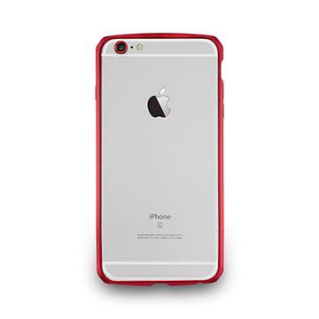 iPhone 6 Plus/6s Plus–碳纖紋鋁合金保護框- 酒紅色