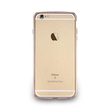 iPhone 6 Plus/-碳纖紋鋁合金保護框-玫瑰金
