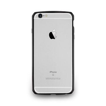 iPhone 6/6s-碳纖紋鋁合金保護框-墨黑色