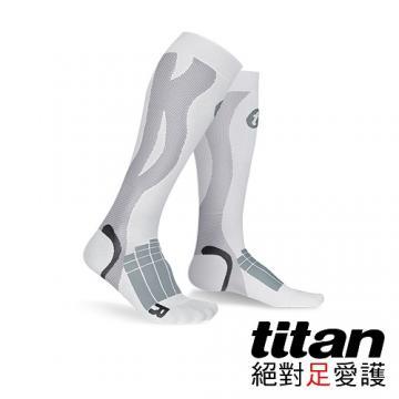 Titan壓力運動襪-Elite[白/灰]