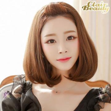 半罩式-蓬鬆感微捲梨花頭【MW013】韓系唯美露額半罩式假髮