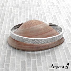 【ARGENT安爵銀飾精品】原創商品-手環系列「甜蜜烙印(敲打手環)(6mm)」純銀手環