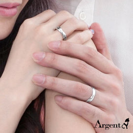 【ARGENT安爵銀飾】原創--情人對戒系列「相擁」純銀對戒(一對價)