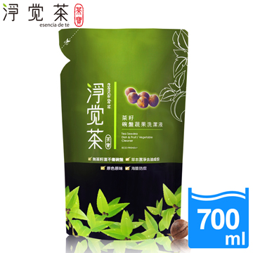 【茶寶 淨覺茶】茶籽碗盤蔬果洗潔液補充包700ml