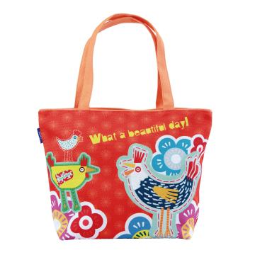 Coplay設計包~早安-公雞 橘 |  托特包