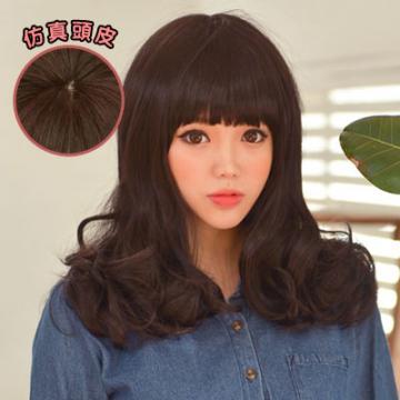 【MA113】韓系 棉花糖女孩中長梨花假髮高仿真超自然整頂假髮☆雙兒網☆
