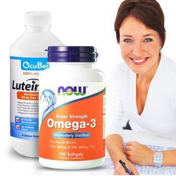 OcuBest-晶采樂活組-艾適明專利葉黃素飲+深海魚油