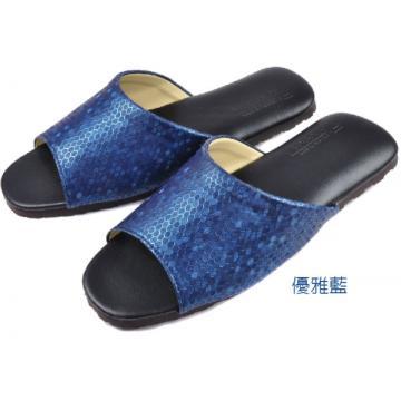 (e鞋院) 樂悠晨光室內拖鞋 ~藍~