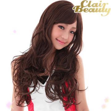 【332A】我和我的十七歲 謝欣穎代言 甜美浪漫長捲髮高仿真超自然整頂假髮☆雙兒網☆