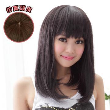 【892A】萌Q年輕漾髮尾彎彎直髮 高仿真超自然整頂假髮☆雙兒網☆