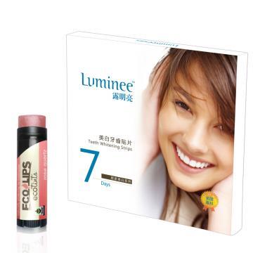 Luminee 露明亮美白牙齒貼片★加贈天然護唇膏1支