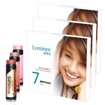 Luminee 露明亮美白牙齒貼片3盒加贈天然護唇膏3支