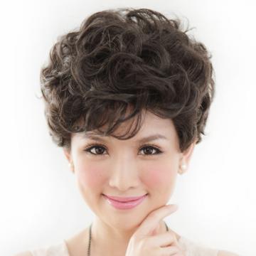 【105】氣質媽媽貴氣小短捲髮型