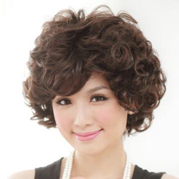 【D130A】笑臉盈人好氣色媽咪蓬鬆短卷髮