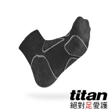 Titan功能慢跑襪[黑/黑竹炭]