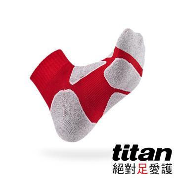 Titan功能慢跑襪[紅/竹炭]