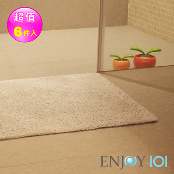 ENJOY101浴室吸水防滑抑菌地墊加厚升級-45x60cm*6件