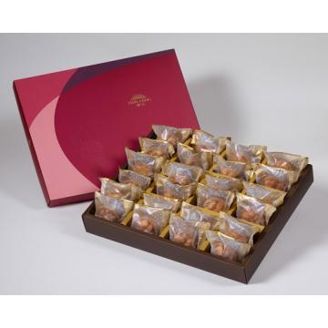 漢坊【金饌】辣味夏威夷豆堅果塔24入禮盒(蛋奶素)
