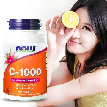 NOW健而婷-強續型維他命C-1000加玫瑰果(100顆/瓶)