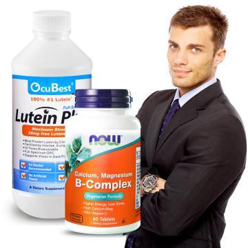 OcuBest-職場生存組-艾適明專利葉黃素飲+B群鈣鎂