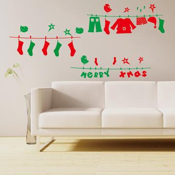 【Smart Design】創意無痕壁貼◆聖誕襪