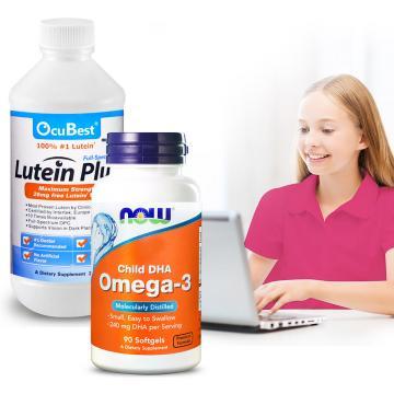 OcuBest-學習特攻組-艾適明專利葉黃素飲+兒童魚油DHA