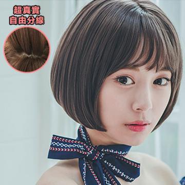 【MB209】韓系 稀疏薄瀏海 耐熱高仿真BOBO短髮(加大頭皮)☆雙兒網☆