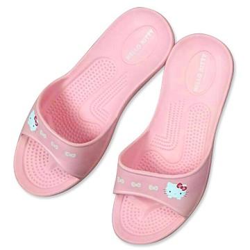 (e鞋院)HELLO KITTY 環保室內拖鞋--粉