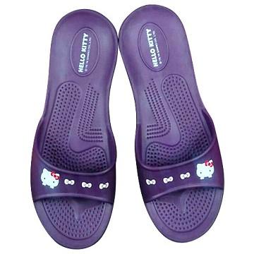 (e鞋院)HELLO KITTY 環保室內拖鞋--紫