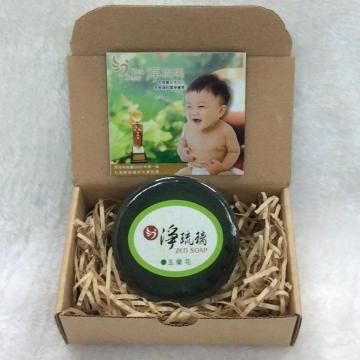 《淨琉璃ZEN SOAP》手工美容皂【100g】玉蘭花(綠色)