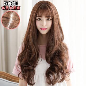 【MA293】韓系高仿真 空氣瀏海 超美 耐熱 長捲髮 假髮