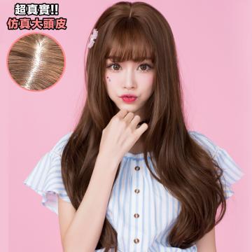 【MA212】韓系高仿真 空氣瀏海 超美 耐熱 長捲髮 假髮