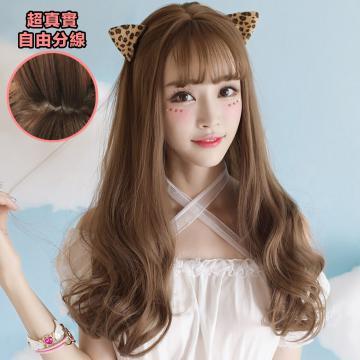 【MA309】夢幻女孩 高仿真 空氣瀏海 超美 耐熱 長捲髮 假髮