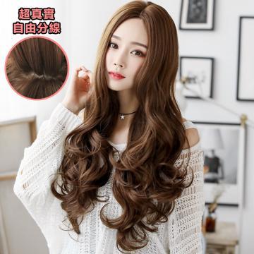 【MA308】女神款 中分 高仿真  超美 耐熱 長捲髮 假髮