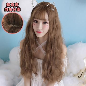 【MA311】韓系歐尼 必備時尚髮型 高仿真 空氣瀏海  耐熱 長捲髮 假髮