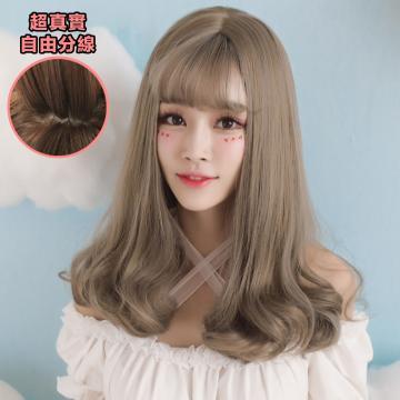 【MA315】萌系美少女 仿真 空氣瀏海 超美 耐熱 中長捲髮 假髮