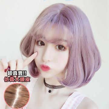 【MB210】韓新色 空氣瀏海 耐熱 時尚梨花內灣短髮 假髮