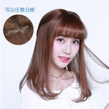 【MX322】修飾小V臉 大頭皮 自由分線 空氣瀏海 梨花頭 中長髮 假髮
