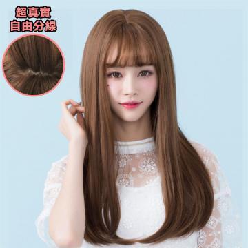 【MA212】韓系高仿真 空氣瀏海 超美 耐熱 長微捲髮 假髮