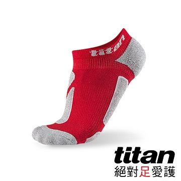 Titan功能慢跑踝襪-[紅/竹炭]
