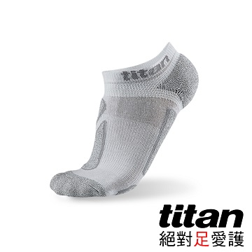 Titan功能慢跑踝襪-[白/竹炭]