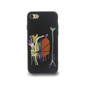 iPhone 7-小資族淺浮雕保護背套_太空黑