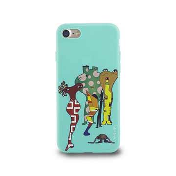 iPhone 7-小資族淺浮雕保護背套_春綠色