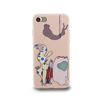 iPhone 7-小資族淺浮雕保護背套_薔薇粉